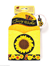 Pop Overs Sunflower Sunny Wishes Gift and Go Bottle Wrap - $8.35