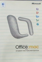 Microsoft Office: MAC Student & Teacher Edition 2004 With Codes - $7.56