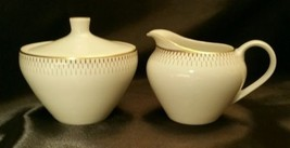 Mint Porcelain Schonwald Creamer & Sugar Set with Gold Accents #382  - $29.70