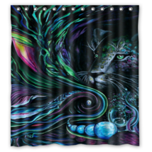 Psychedelic #32 Shower Curtain Waterproof Made From Polyester - $31.26+
