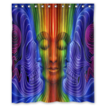 Psychedelic #35 Shower Curtain Waterproof Made From Polyester - $31.26+