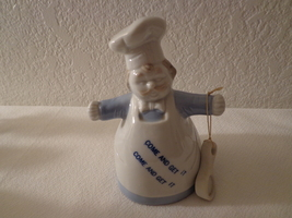 """Vintage Porcelain """"Come and Get It"""" Chef with Spoon - $13.99"""