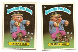 1986 Garbage Pail Kids Series 3 Cards 112a Frank N. Stein / 112b Undead Jed - $5.00