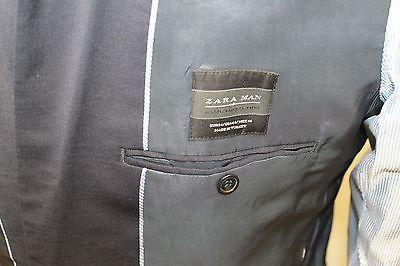 Classic Zara Basic Men Blazer 44R Black Extra Fine Wool Turkey 2 Buttons