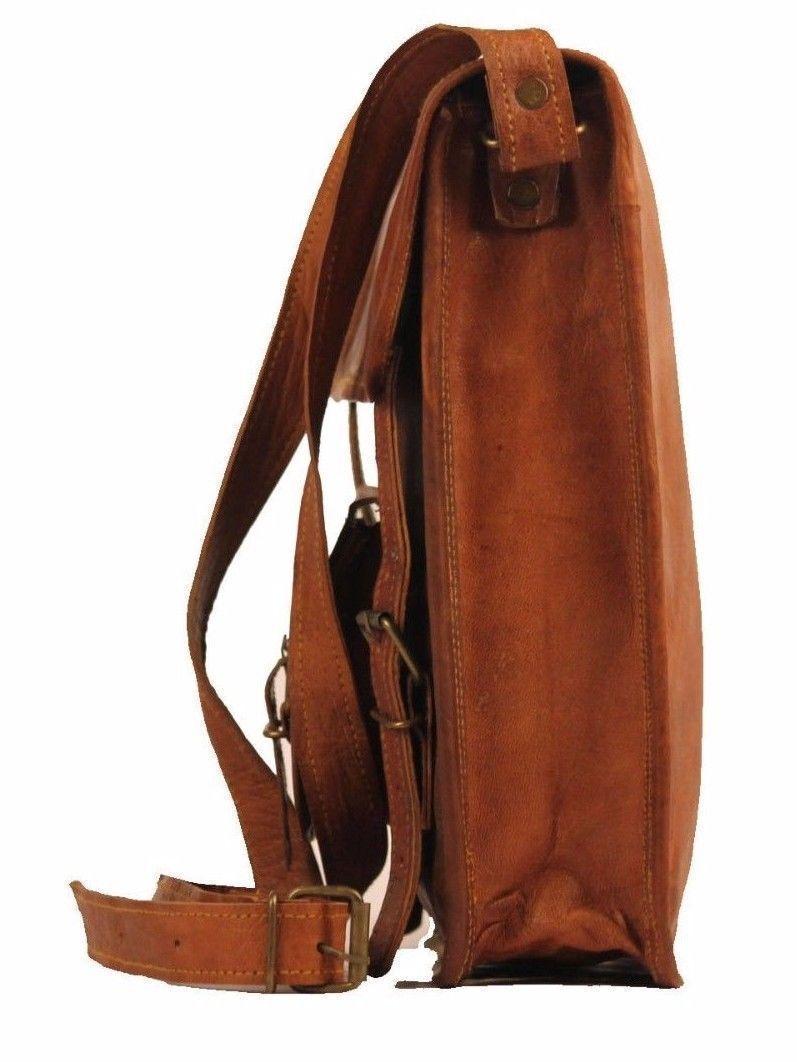 Men's messenge Leather satchel Vintage Leather Bag Shoulder Bag for i Pad