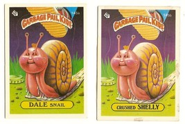 1986 Garbage Pail Kids Series 4 Cards 145a Dale Snail / 145b Crushed She... - $5.00