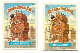 1986 Garbage Pail Kids Cards Series 5: 176a Condo Minnie / 176b Bill Din... - $5.00