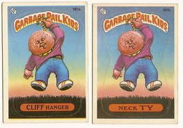1986 Garbage Pail Kids Cards Series 5: 181a Cliff Hanger / 181b Neck Ty GPK - $5.00
