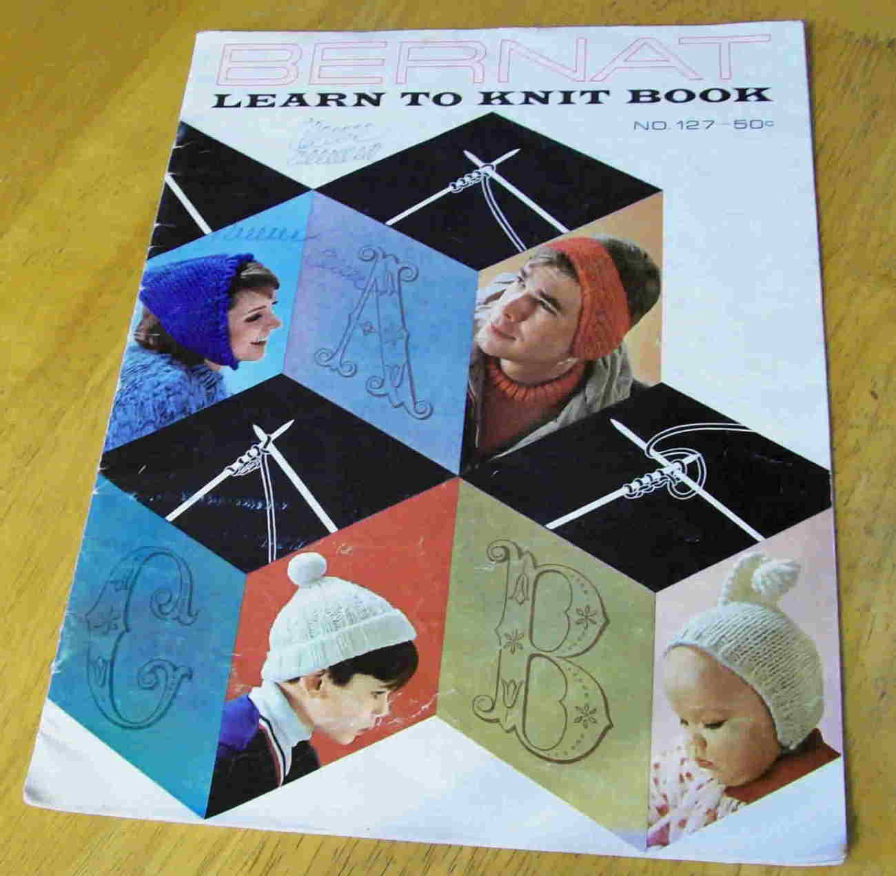 Vintage Bernat Learn to Knit Book