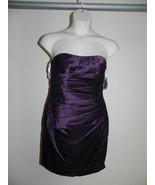 Davids Bridal Dress Size 4 Plum Purple Strapless Bridesmaid F15629 NWT $149 - $72.57