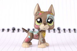 LPS Figure#1439 Tan Dog Great Dane Tatoo Puppy - $4.94