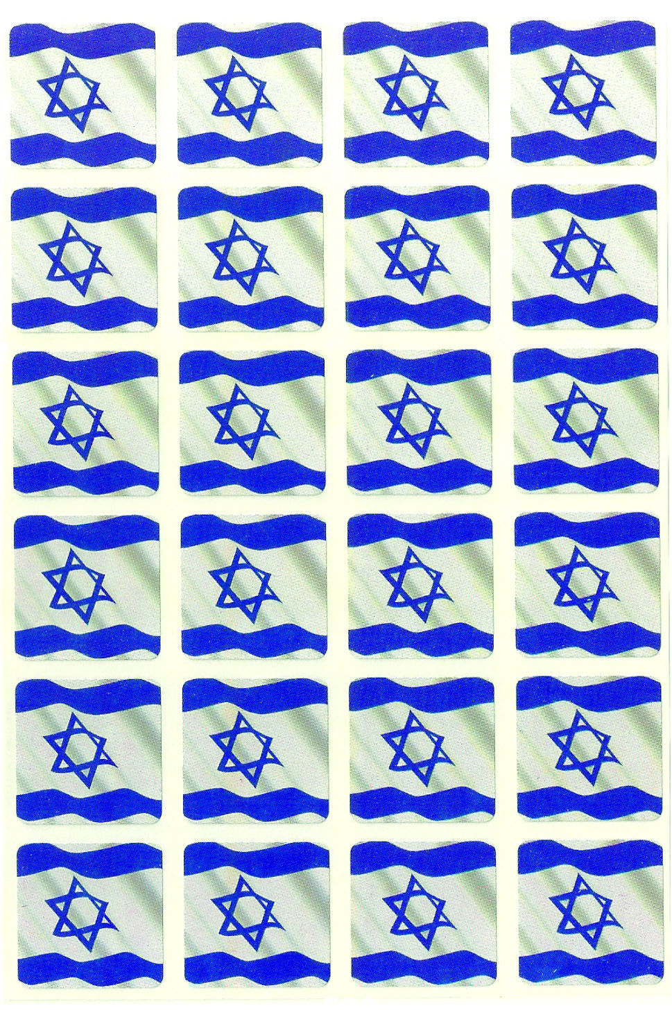 Judaica Atzmaut Independence Day Israeli Flag 240 Stickers Children Teaching Aid