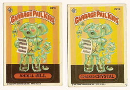 1986 Garbage Pail Kids Cards Series 6 221a Cracked Crystal / 221b Shrill... - $5.00