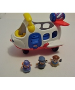 Fisher Price Little People Lil' Movers Airplane Sounds Music 2 Figures - $6.99
