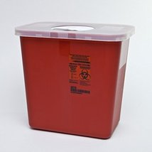 Kendall Sharps Container with Rotor Lid 2 Gallon Pack of 3 h l w 8970 - $25.63