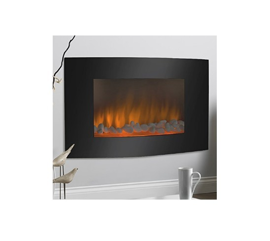 electric wall mount fireplace heater adjustable 1500w heat