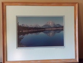 "Framed Photograph Mt. Moran from Jackson Lake  JWM Tetons 1966 21 3/4"" x... - $49.49"
