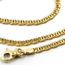 18K YELLOW GOLD CHAIN, 2.5mm, 24 INCHES, FLAT TIGER EYE LINKS, MADE IN ITALY image 4
