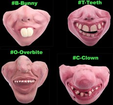 Funny BUNNY Adult Gag-LATEX HALF FACE MASK-Poker Halloween Costume Party... - $3.93+