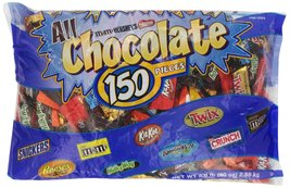 Hershey's All Chocolate Pieces, 150 Pcs, 90 Ounce Bag - $34.25