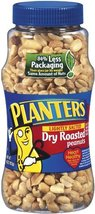 Planters Peanuts, Lightly Salted, Dry Roasted, 16-Ounce Jars (Pack of 12) - $87.27