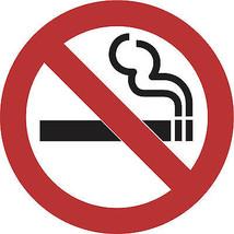 No Smoking warning sign circular vinyl sticker 100mm or 150mm emoji - $3.00+