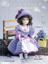 "Crochet Little Girls Of Yesterday Volume 2 For 14""  Doll Clothes Pattern 8407 - $6.99"