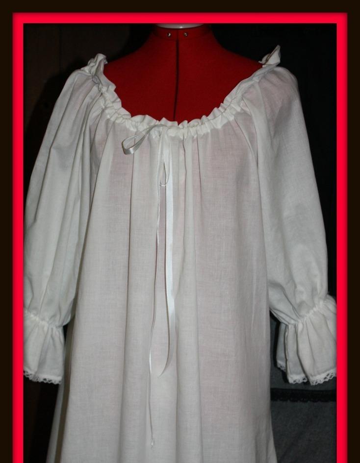 White double ruffle chemise 1