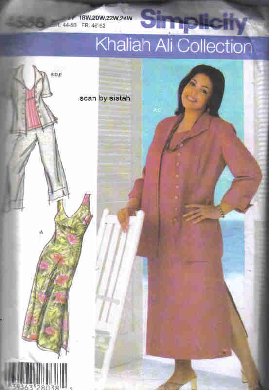 Simplicity 4558 Pattern 18 20 22 24 Khaliah and 50 similar items