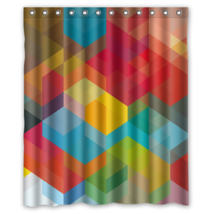 Rainbow Cube #02 Shower Curtain Waterproof Made From Polyester - $31.26+