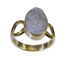 well-formed Druzy Gold Plated multi Ring gemsto... - $6.99