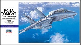 Hasegawa 1/72 United States Navy F- 14 A Tomcat Low Visibility Plastic Model E 2 - $19.00