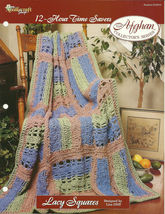 Needlecraft Shop Crochet Pattern 972043 Lacy Squares Afghan Collectors S... - $4.99