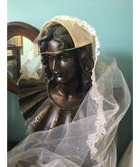 Vintage lacey bridal wedding head dress accessory - $45.00