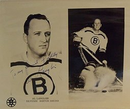 Al Langlois Signed Autographed Vintage Glossy 'To Freddy' 8x10 Photo (Boston ... - $24.74
