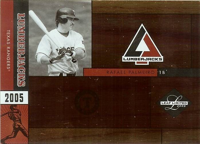 Primary image for 2005 leaf limited rafael palmeiro texas rangers serial 43/50 baseball card