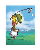 Tee-Off Tweety by Looney Tunes Humor Art Print - $499.98