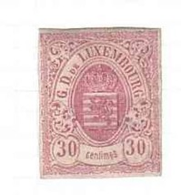 LUXEMBOURG 1859 #23 XF USED CLASSIC STAMP  1004-GL-A1 - $44.55