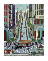Powell Street Cable Car by Nicky Watanabe Limit... - $600.00
