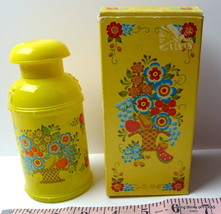 Avon Yellow Milk Can Creamery Decanter Field Flowers Empty - $15.72
