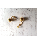 10mm Gold Ball Earrings, Gold Plate, Vintage Ea... - $3.00