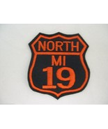BIKER PATCH ROUTE 66 OR ANY NUMBER + CHOOSE YOUR COLORS TEXT 3-1/2in Sew... - $7.99