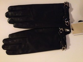 MICHAEL KORS BLACK LEATHER CHAIN GLOVES - NWT - $67.32