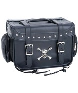 Motorcycle Bike Trunk Cooler Bag with Skull and Crossbones Medallion and... - $58.89