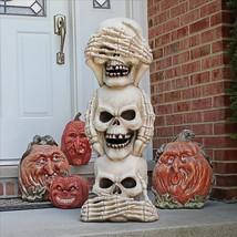 Large: Three Truths of Man See Hear Speak No Evil Triplet Skull Hallowee... - ₨16,706.55 INR