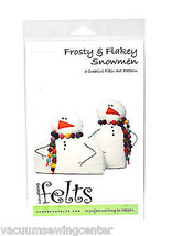 Handbeng Felts Frosty & Flakey Snowmen Creative Fiber Art Pattern - $13.75