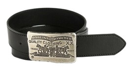 NEW LEVI'S MEN'S STYLISH CLASSIC GENUINE PREMIUM LEATHER BELT BLACK 11LV02TA