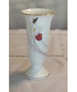 Vintage Mikasa bud vase made in Japan bone china vase with pastel pink, ... - $26.00