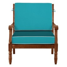 """26"""" x 26"""" Outdoor Deep Seat Cushion Set For Chair Sofa Welted Caribbean ... - $137.56"""