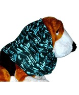Dog Snood Turquoise Black Vintage Airplanes Cotton By Howlin Hounds Pupp... - $9.50